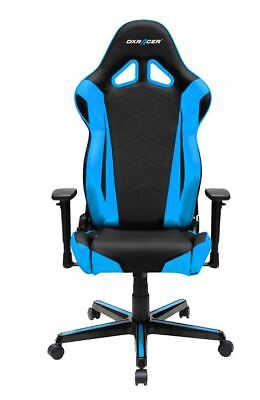 DXRacer OH/RZ0 Blue/Black Racing Gaming Chair - With Free Cushion