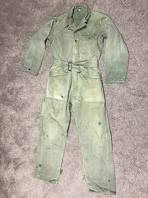 Original WWII US Army HBT Tanker Coveralls