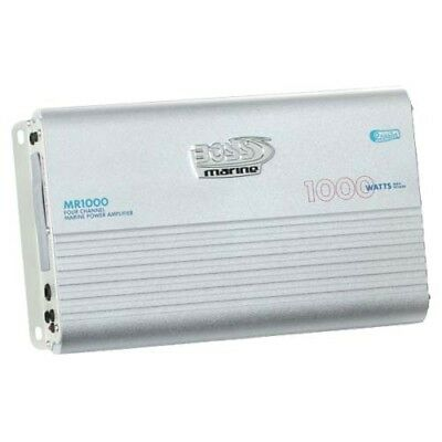 Boss Audio MR1000 1000W 4 CH Marine Amplifier with GEN BOSS AUDIO WARR