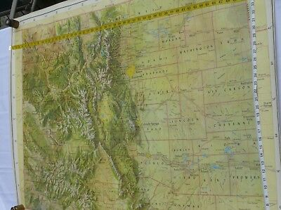 Vintage giant school class map of the Colorado United States America Jeppesen