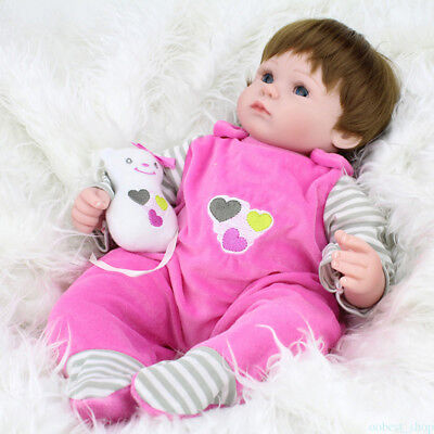 Reborn Baby Girl Doll Newborn Silicone Vinyl Lifelike Cute Doll With Clothes DP9