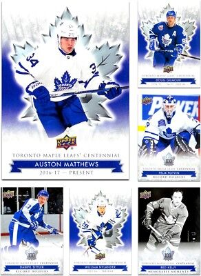 2017-18 Toronto Maple Leafs Centennial *** PICK YOUR CARD *** From SET (1-200)
