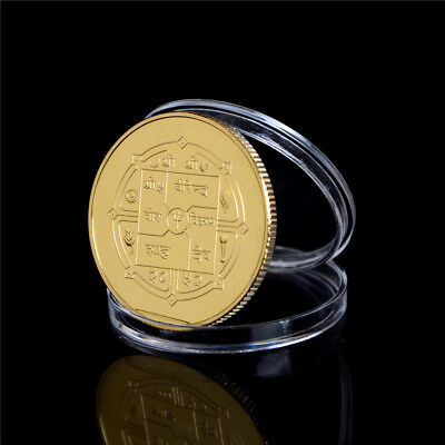 1PC Gold-plated Coin Nepal Buddha Commemorative Coin Collection Gift FB