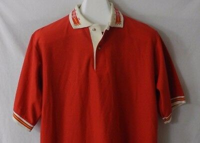 Vtg Team DQ Dairy Queen Employee Polo Shirt Hilton Size Large Made In USA