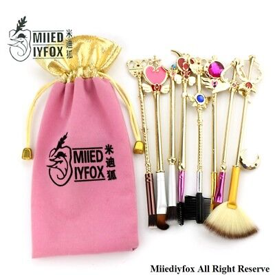 Sailor Moon Makeup Brushes Tool Professional Portable Powder Cosmetic Brush Kit