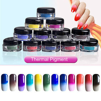 2017 Hot Thermochromic Thermal Change Temperature Powder Dust Gradient Nail Art