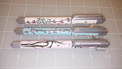 Judd's Lot of 3 NEW Online College Romantic Flowers&Sweet Angels Rollerball Pens