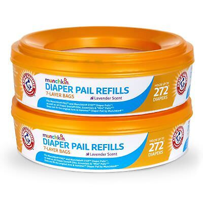 Munchkin Arm and Hammer Diaper Pail Refill Rings 544 Count 546 Count