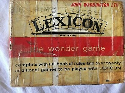LEXICON The Wonder Game - Vintage