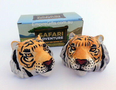 Collectable Salt & Pepper Shaker Tiger Anilmal Set 2 Kitchen Gift Boxed