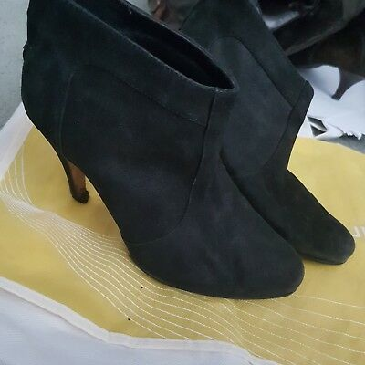 Women's black suede nubuck shoes size 37 Country Road