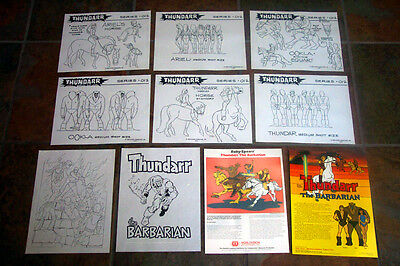THUNDARR THE BARBARIAN TOON MODEL SHEETS HANNA BARBERA Ruby Spears ARTIST GUIDE