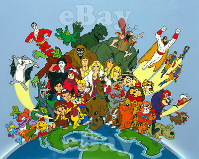 EXTRA LARGE! HANNA BARBERA & RUBY-SPEARS STUDIOS Photo Poster Print