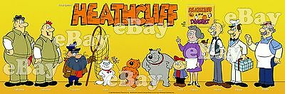 NEW!! EXTRA LARGE! HEATHCLIFF Panoramic Photo Print HANNA BARBERA Ruby Spears