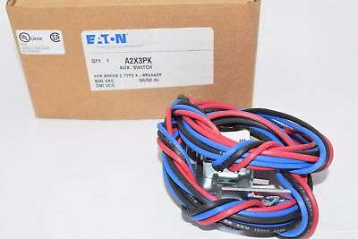 NEW Eaton Cutler Hammer, A2X3PK Auxiliary Switch Pigtail Leads