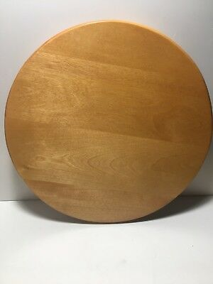 Round Wooden BASKET LID See Pictures For Opening Info Free Shipping