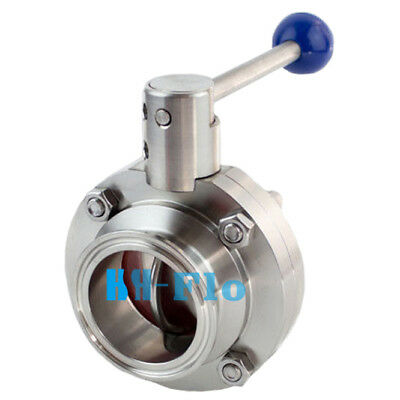 2 Inch Sanitary Stainless Steel 304 Butterfly Valve Tri Clamp Food Grade