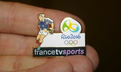 2 Pin's Rugby France Tv Sports Télévisions JO Rio