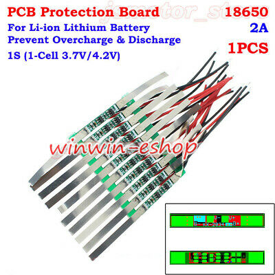 PCB Protection Board 1S 2A 3.7V 18650 Li-ion Lithium Lipo Battery BMS Circuit