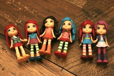 Strawberry shortcake collection of mini figures cake toppers
