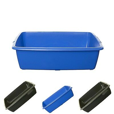 Whitefurze Plastic Medium Cat Litter Tray Toilet Pet Plastic Top Quality