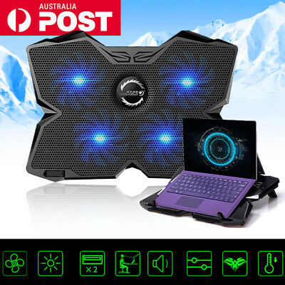 15.6 Inch Laptop Notebook Cooling Pad Cooler 2 USB w/ 4 Fans Speed Adjustable