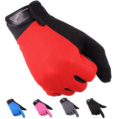 Mens Full Finger Gloves Anti-Skid Fitness Gym Exercise Workout Training Cycling