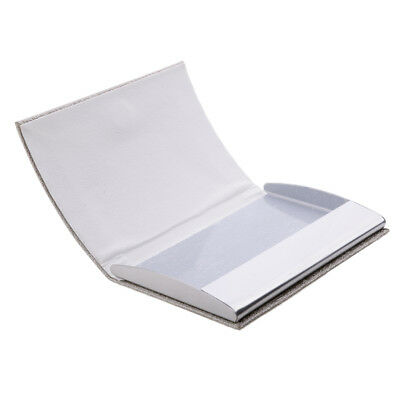 Men &Women Business Card Holder Premium PU Stainless Steel Waterproof Silver