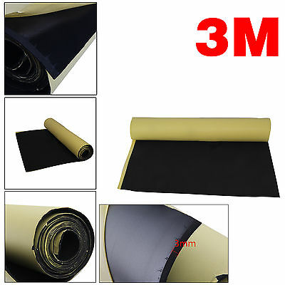 3m Roll Car Sound Proofing Deadening Van Insulation Closed Cell Foam 3mm Thick