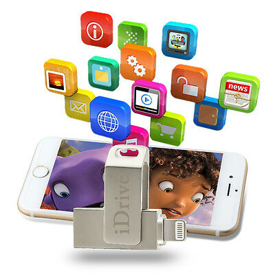 USB iDrive Device Adapter OTG Memory Storage Stick For iPhone 5s 6 6s 7 Plus