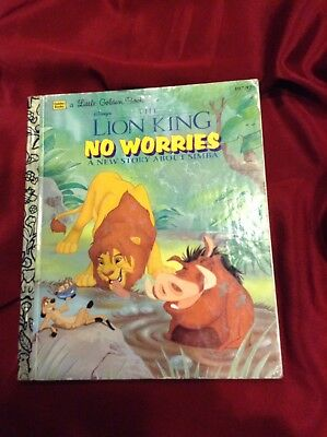 Little Golden Book- The Lion King No Worries A New Story About Simba