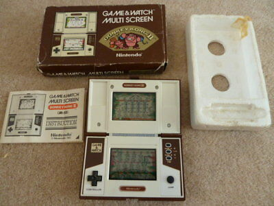Donkey Kong  2 Nintendo Game And (&) Watch Boxed
