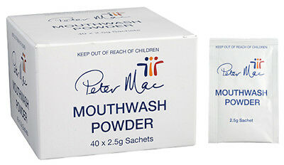 Peter Mac Mouthwash Powder 40 x 2.5g Sachets