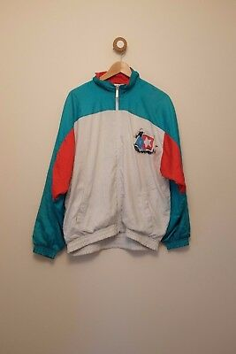 Vintage 80's/90's PUMA green, white and red shell suit M/L