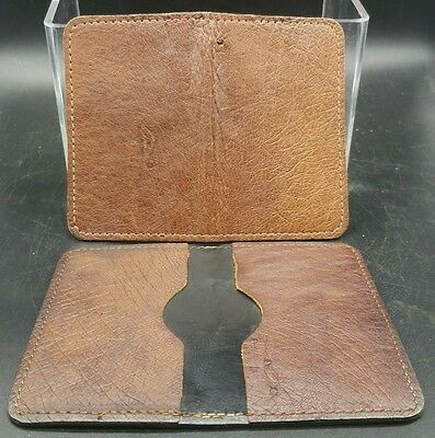 NEW CARD HOLDER BROWN Genuine OSTRICH Exotic SMOOTH Skin BUSINESS Credit Cards