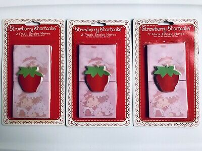 Lot Of 4: Retro Strawberry Shortcake Sticky Notes (2 Pack / 50 sheets each)