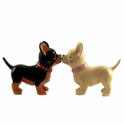 Collectable Salt & Pepper Pucker Up Pups Kissing Set FREE Shipping