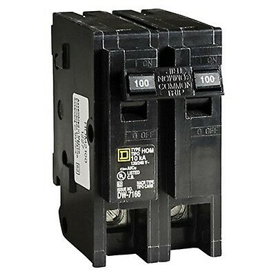 Square D by Schneider Electric HOM2100CP Homeline 100-Amp Two-Pole Circuit Br...