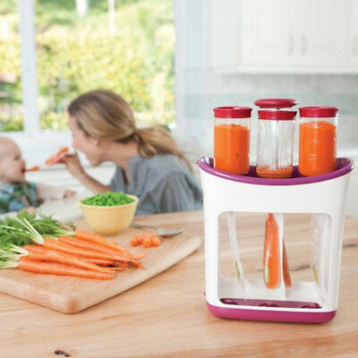 Infantino Squeezed  Station + 10 Pouches Fresh Organic Baby Weaning Puree Maker