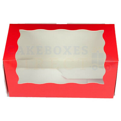 25 x DOUBLE RED CUP CAKE BOXES AND DIVIDERS