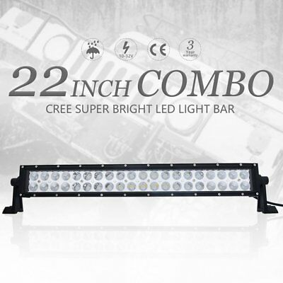22'' inch 200W CREE LED WORK LIGHT BAR FLOOD SPOT OFFROAD DRIVING 4WD SUV LAMP