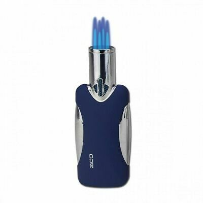 Zico Torch Lighter Four Burner Jet Flame Butane Gas Refillable Blue Zd46 T129