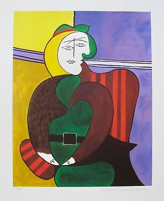 Pablo Picasso RED ARMCHAIR Estate Signed & Stamped Limited Edition Large Giclee