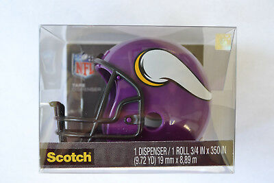 Minnesota Vikings Nfl Licensed Mini Helmet Scotch Tape Dispenser With Tape