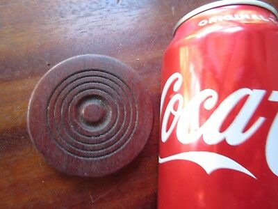 Antique Wood Rosette Piece Round Molding Medallion Applique Red Stain Bulls Eye