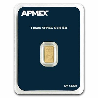 1 gram Gold Bar - APMEX (In TEP Package) - SKU #63288