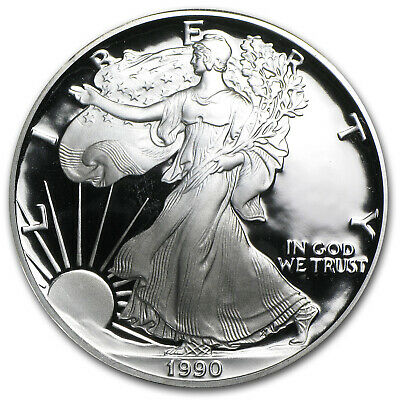 1990-S 1 oz Proof Silver American Eagle (w/Box & COA) - SKU #1080