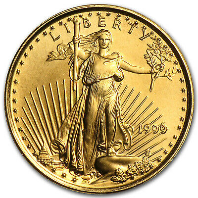 1999 1/10 oz Gold American Eagle BU - SKU #7448