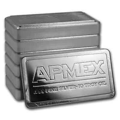 10 oz Silver Bar - APMEX (Stackable) - SKU #50644