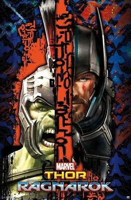 THOR RAGNAROK - SPLIT MOVIE POSTER - 22x34 - MARVEL COMICS HULK 15271